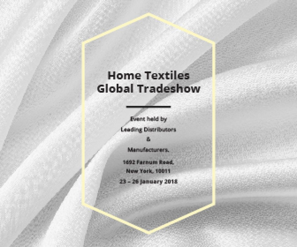 Home Textiles Events Announcement White Silk — Crea un design