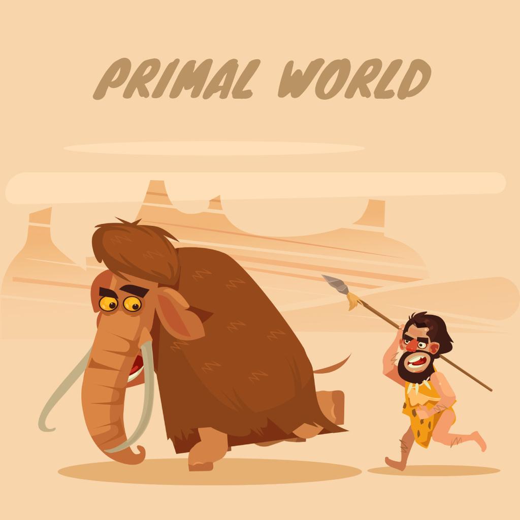 Caveman hinting for mammoth — Crear un diseño