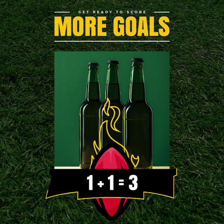 Template di design Super Bowl Offer with Beer Bottles Animated Post