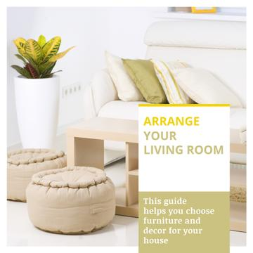 Home Decor Tips Cozy Interior in Light Colors | Instagram Post Template