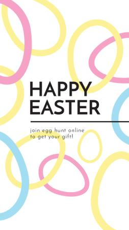 Template di design Egg Hunt Offer with rotating Easter Eggs Instagram Video Story