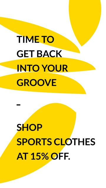 Sports Clothes Shop Offer with yellow Textures Instagram Story – шаблон для дизайну