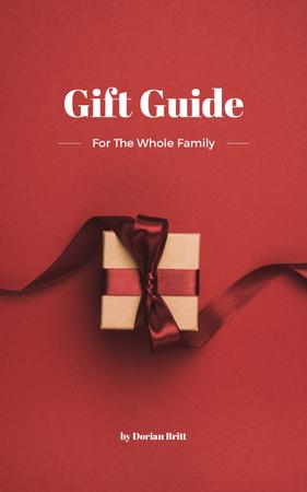Plantilla de diseño de Gift Guide Red Present Box with Bow Book Cover