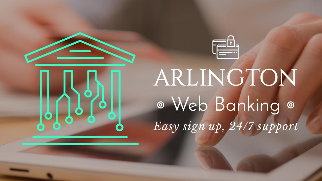 Web Banking Digital Icon on House Network | Full Hd Video Template — Crear un diseño