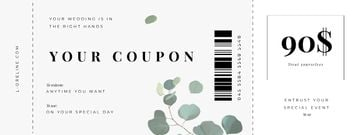 Coupon for Wedding Agency services