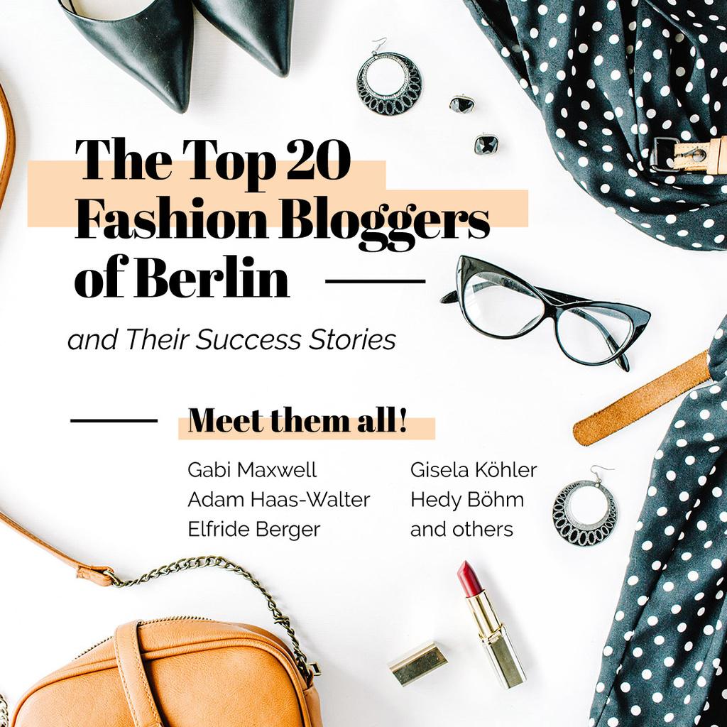Meeting of fashion bloggers poster — Modelo de projeto