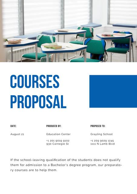 Plantilla de diseño de Education Center offer Proposal