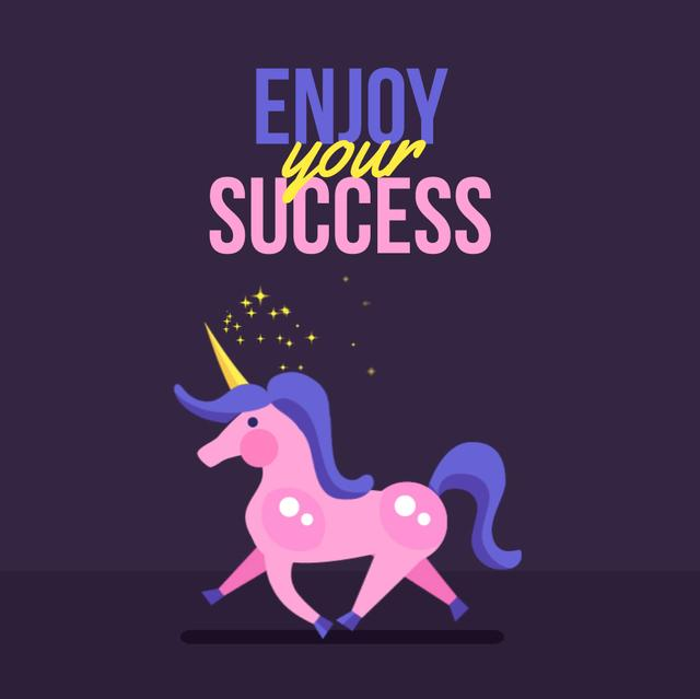 Running magical Unicorn Animated Post Design Template