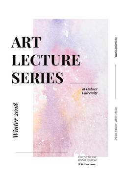 Art Lectures Announcement Colorful Paint Pattern | Poster Template