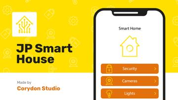Product Hunt Launch Ad Smart Home App on Screen | Full Hd Video Template