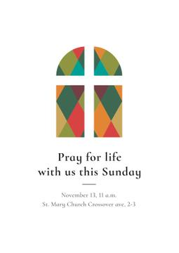 Invitation to Pray with Church Window
