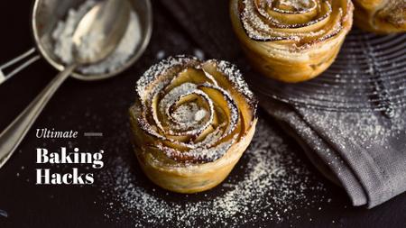 Ontwerpsjabloon van Presentation Wide van Delicious Bakery Ad