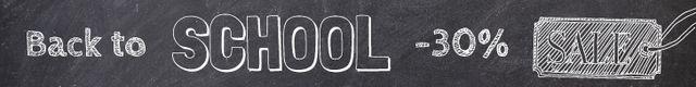 Back to school banner sale Leaderboard Modelo de Design