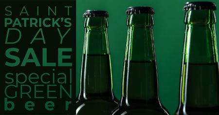 Plantilla de diseño de Special Green Beer Offer on St.Patricks Day Facebook AD