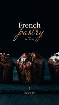 Pastry Offer with Sweet chocolate cakes