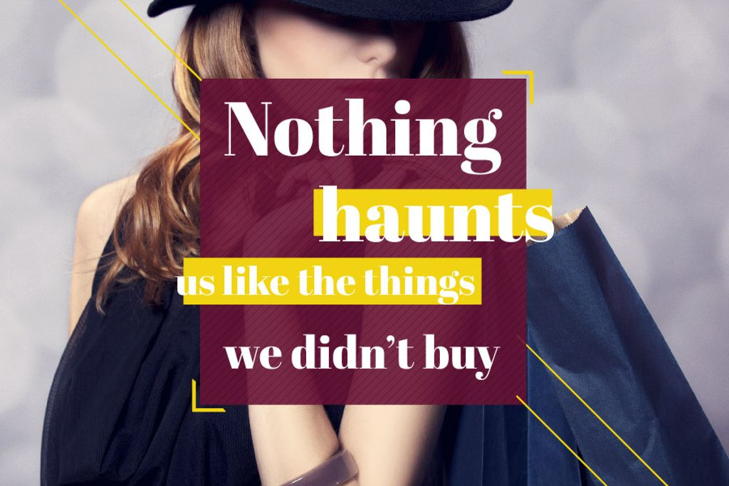 Quotation about shopping haunts — Create a Design