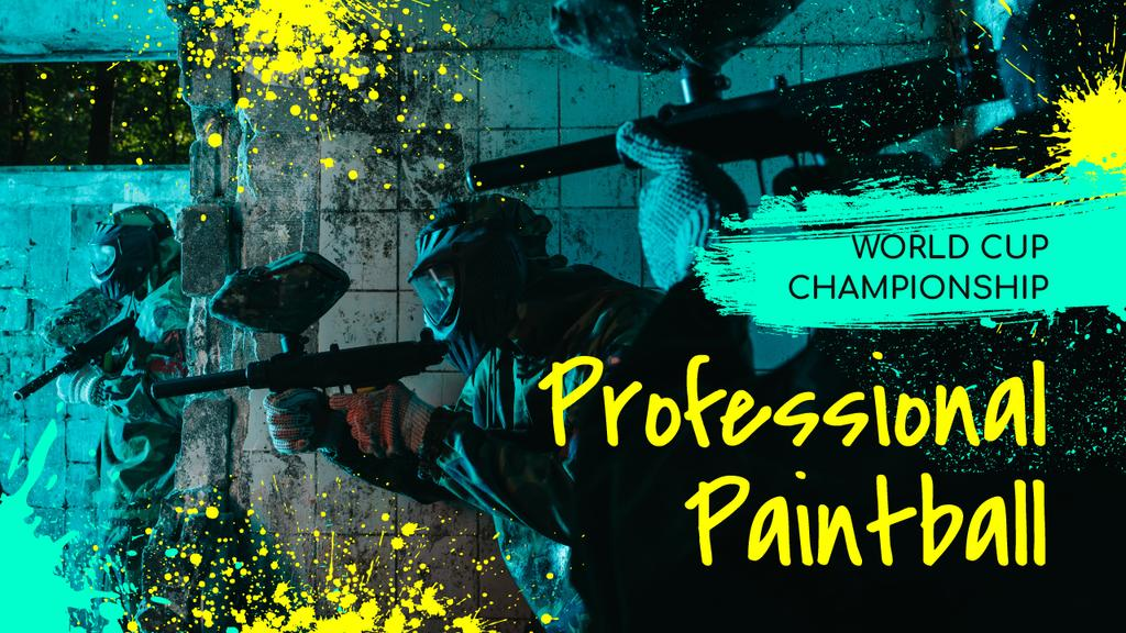 Paintball Championship Announcement People with Guns — Create a Design