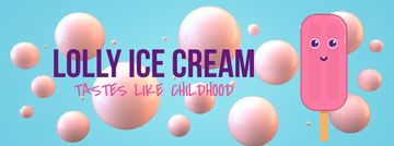Melting cartoon ice cream