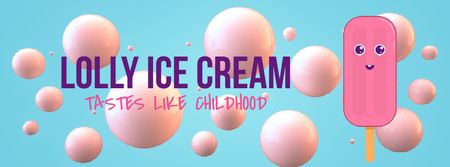 Template di design Melting cartoon ice cream Facebook Video cover
