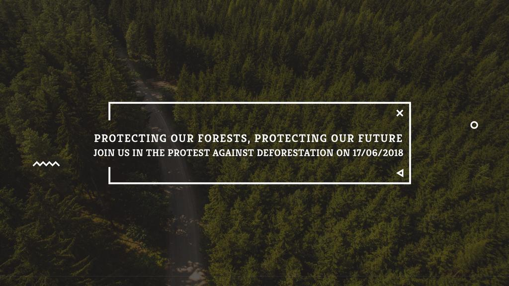 Ecology Quote with Forest Road View — Create a Design