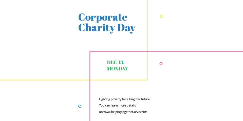 Corporate Charity Day on simple lines Image Design Template