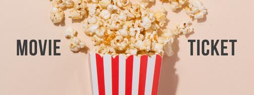 Movie With Sprinkled Popcorn Tickets