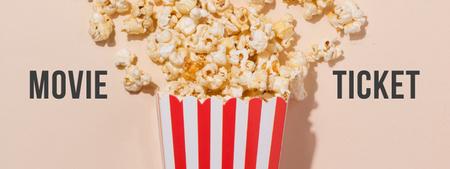 Movie with Sprinkled popcorn Ticket Modelo de Design