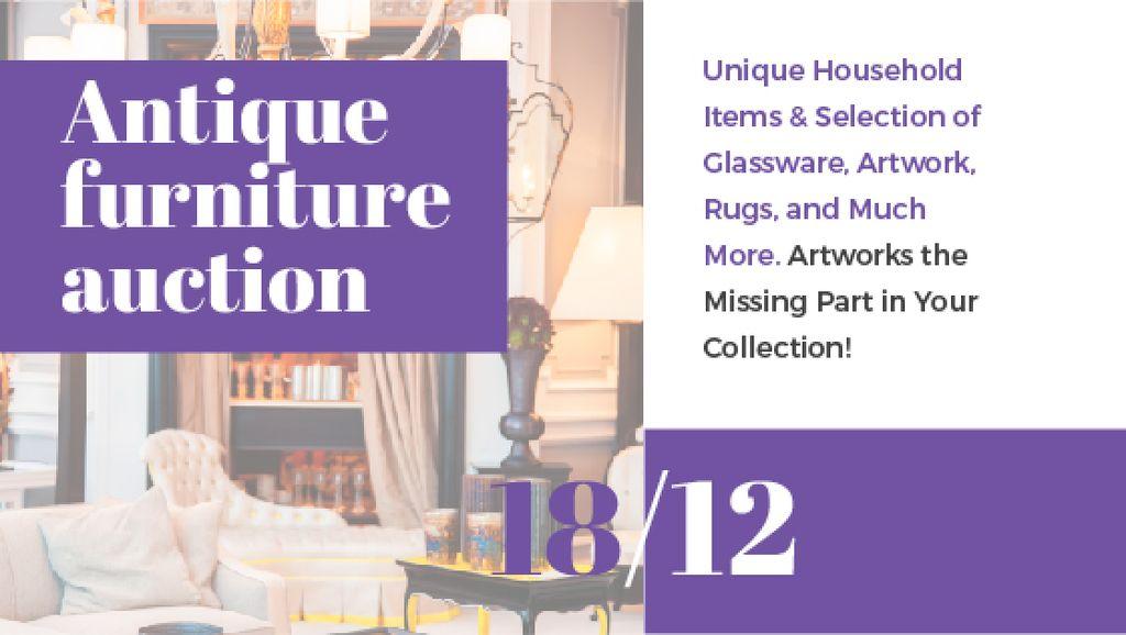 Antique Furniture Auction Vintage Wooden Pieces — ein Design erstellen
