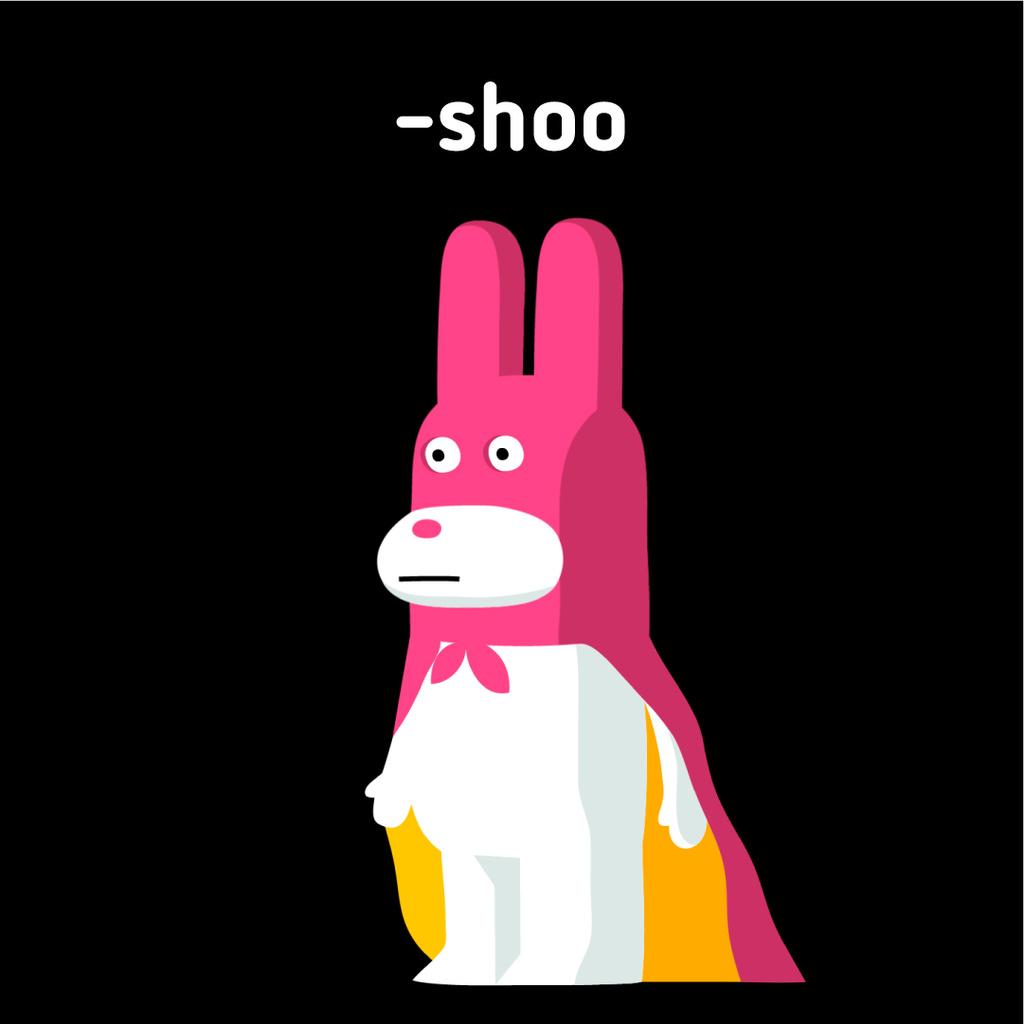 Cute bunny in cape pointing — Create a Design