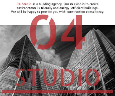 Building agency banner Medium Rectangle Modelo de Design