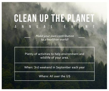 Clean up the Planet Annual event Medium Rectangleデザインテンプレート