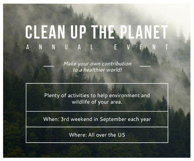 Clean up the Planet Annual event Medium Rectangle Modelo de Design