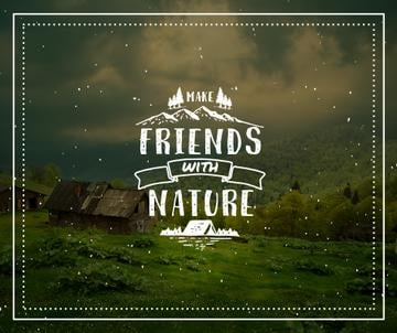 Nature Quote Scenic Mountain View | Facebook Post Template