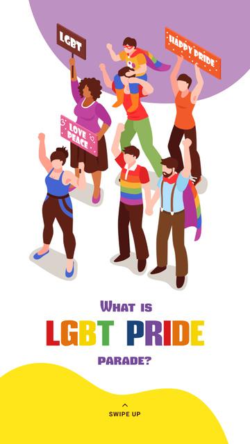 People at pride parade Instagram Story – шаблон для дизайну