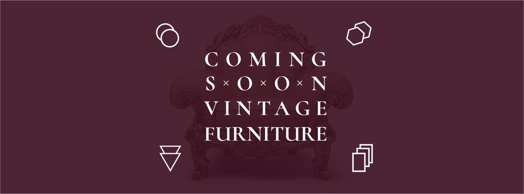 Antique Furniture Ad Luxury Armchair | Facebook Cover Template — Maak een ontwerp