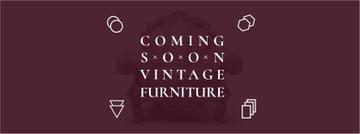 Antique Furniture Ad Luxury Armchair | Facebook Cover Template