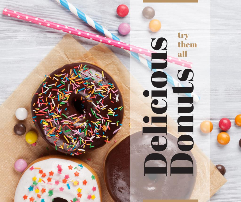 Sweet glazed Donuts with sprinkles — Створити дизайн