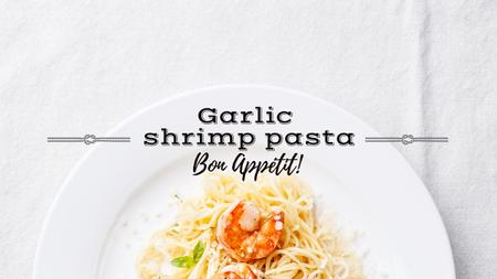 Modèle de visuel Delicious garlic shrimp pasta - Youtube