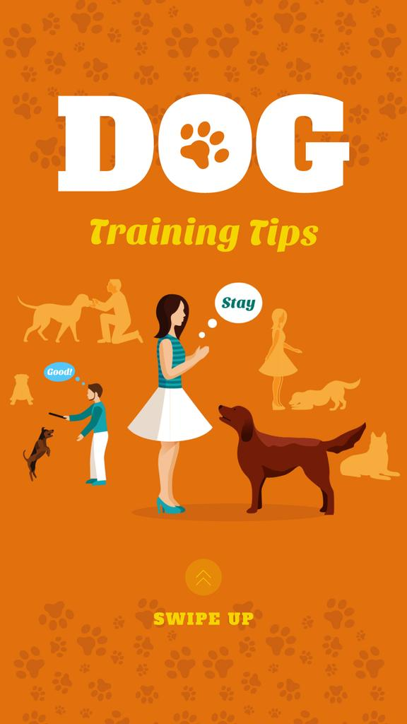 Owner training dog — Create a Design