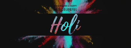 Indian Holi festival paint Burst Facebook Video cover Design Template