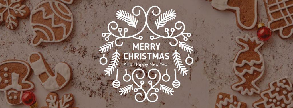 Christmas gingerbread cookies — Modelo de projeto