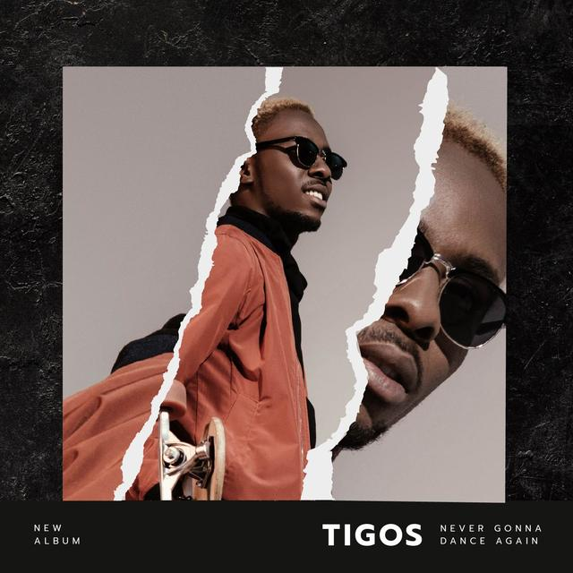 Young Man in sunglasses Album Cover Modelo de Design
