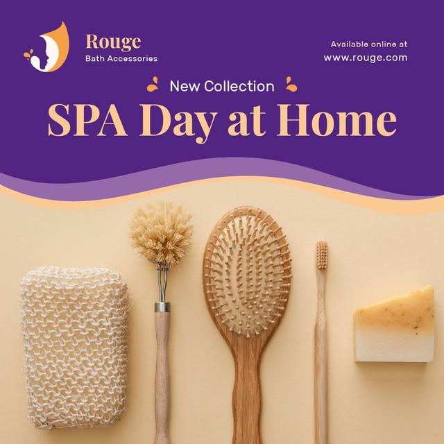Ontwerpsjabloon van Instagram van Spa Accessories Offer Brushes and Sponges