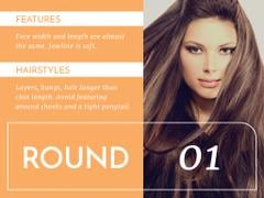 Hairstyle Tips with Curly Lines Pattern