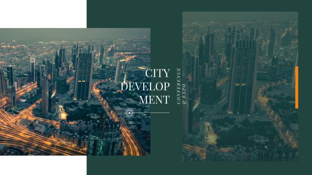 Night city traffic lights Youtube Modelo de Design