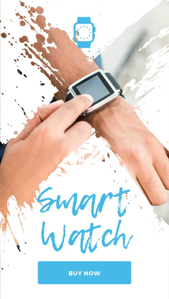 Man Using Smart Watch — Crea un design