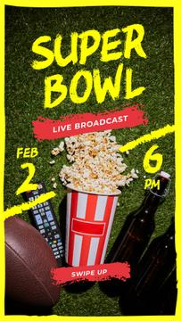 Super Bowl Match Broadcast Rugby Ball with Snacks