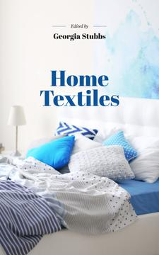 Home Textiles Cozy Interior in Blue Colors | eBook Template