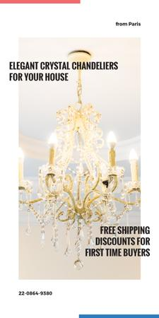 Ontwerpsjabloon van Graphic van Elegant crystal Chandelier offer