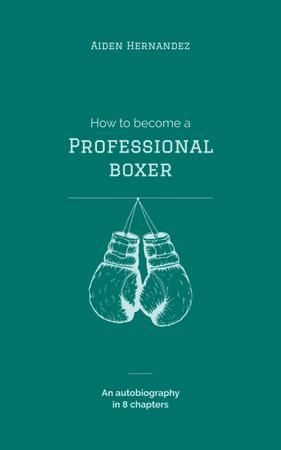 Plantilla de diseño de Boxing Gloves Hanging in Blue Book Cover